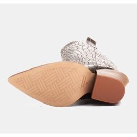 Marco Shoes Wysokie kozaki damskie kowbojki, motyw croco czarne 6