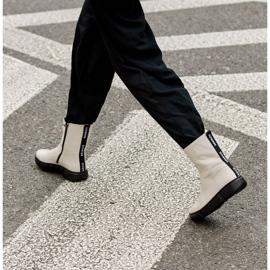 Marco Shoes Sportowe białe botki z miękkiej skóry naturalnej 9
