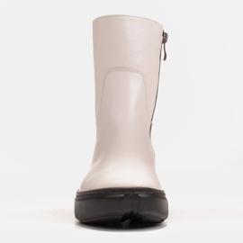 Marco Shoes Sportowe białe botki z miękkiej skóry naturalnej 3