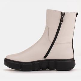 Marco Shoes Sportowe białe botki z miękkiej skóry naturalnej 4