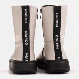 Marco Shoes Sportowe białe botki z miękkiej skóry naturalnej 5