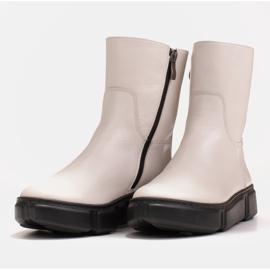 Marco Shoes Sportowe białe botki z miękkiej skóry naturalnej 6