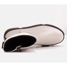 Marco Shoes Sportowe białe botki z miękkiej skóry naturalnej 7