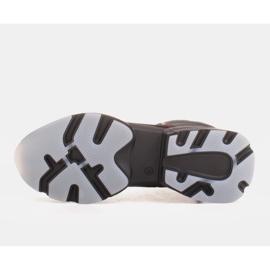 Marco Shoes Sportowe botki damskie z nubuku z czerwonymi wstawkami czarne 5