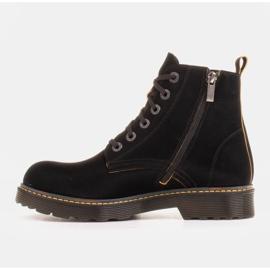 Marco Shoes Wysokie trzewiki, glany wiązane na półprzeźroczystej podeszwie czarne 2