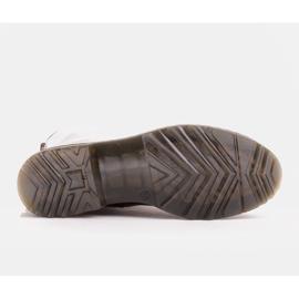 Marco Shoes Wysokie trzewiki, glany wiązane na półprzeźroczystej podeszwie czerwone 7