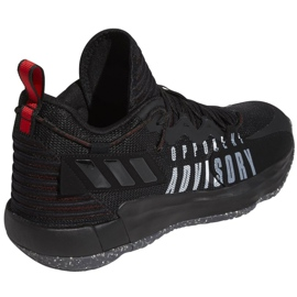 Buty do koszykówki adidas Dame 7 Extply M FY9939 czarne czarne 3