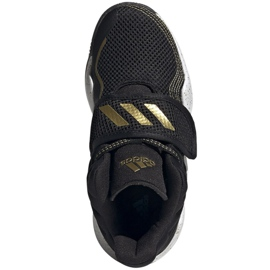 Buty adidas Deep Threat Primeblue C Jr GZ0111 białe czarne 2