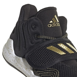 Buty adidas Deep Threat Primeblue C Jr GZ0111 białe czarne 3