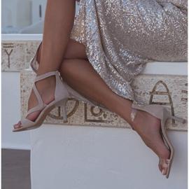 Marco Shoes Eleganckie sandały Ava beżowy 7