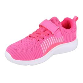 Befado obuwie dziecięce  516Y058 białe różowe 2