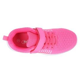 Befado obuwie dziecięce  516Y058 białe różowe 3