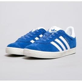 Buty adidas Gazelle J Jr BB2501 białe niebieskie 2