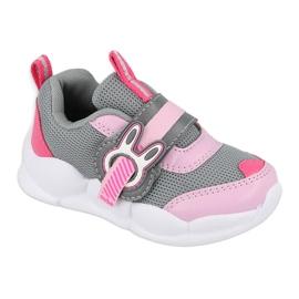 Befado obuwie dziecięce  516P091 różowe szare 2