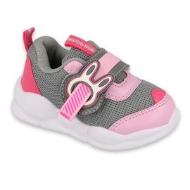 Befado obuwie dziecięce  516P091 różowe szare 1