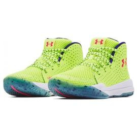 Buty do koszykówki Under Armour Gs Jet Splash Jr 3024120 300 żółte żółte 3