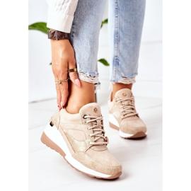 PE1 Sneakersy Na Koturnie Beżowe Temida beżowy 2