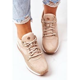 PE1 Sneakersy Na Koturnie Beżowe Temida beżowy 6
