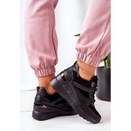 PE1 Sneakersy Na Koturnie Czarne Temida 3