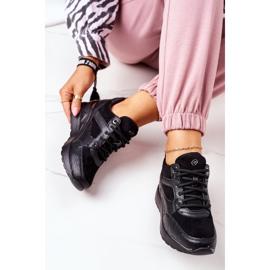 PE1 Sneakersy Na Koturnie Czarne Temida 4