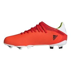 Buty piłkarskie adidas X Speedflow.3 Fg Jr FY3304 czerwone wielokolorowe 1