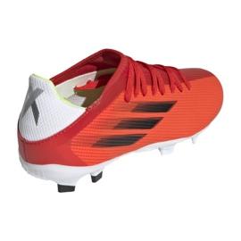 Buty piłkarskie adidas X Speedflow.3 Fg Jr FY3304 czerwone wielokolorowe 2