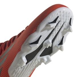 Buty piłkarskie adidas X Speedflow.3 Fg Jr FY3304 czerwone wielokolorowe 4