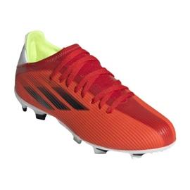 Buty piłkarskie adidas X Speedflow.3 Fg Jr FY3304 czerwone wielokolorowe 5