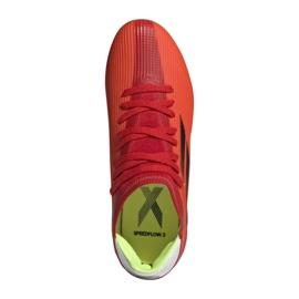 Buty piłkarskie adidas X Speedflow.3 Fg Jr FY3304 czerwone wielokolorowe 6