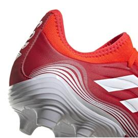 Buty piłkarskie adidas Copa Sense.3 Fg M FY6196 wielokolorowe czerwone 4