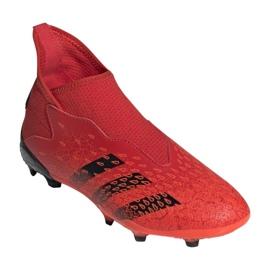 Buty piłkarskie adidas Predator Freak.3 Ll Fg Jr FY6296 czerwone wielokolorowe 6