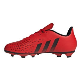 Buty piłkarskie adidas Predator Freak.4 FxG Jr FY6322 czerwone czerwone 1