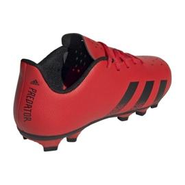 Buty piłkarskie adidas Predator Freak.4 FxG Jr FY6322 czerwone czerwone 2