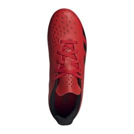Buty piłkarskie adidas Predator Freak.4 FxG Jr FY6322 czerwone czerwone 7