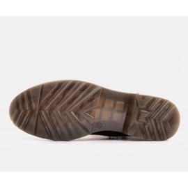 Marco Shoes Wysokie trzewiki, glany wiązane na półprzeźroczystej podeszwie czarne 8