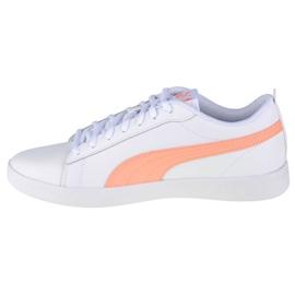 Buty Puma Smash Wmns V2 W 365208-26 białe pomarańczowe 1