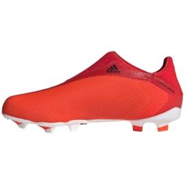 Buty piłkarskie adidas X Speedflow.3 Fg Ll Jr FY3257 wielokolorowe czerwone 2