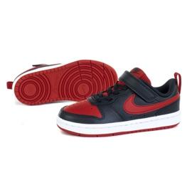Buty Nike Court Borough Low 2 (PSV) Jr BQ5451-007 czarne niebieskie 1