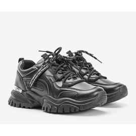 Czarne sneakersy na grubej podeszwie Zooey 1