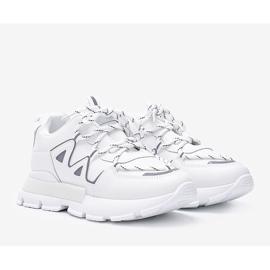 Białe sneakersy z odblaskowymi wstawkami Filua 1
