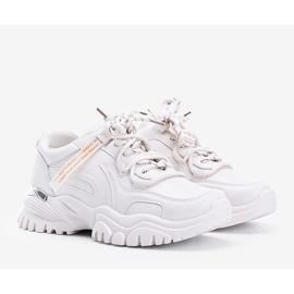 Beżowe sneakersy na grubej podeszwie Zooey beżowy 1