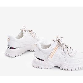 Beżowe sneakersy na grubej podeszwie Zooey beżowy 2