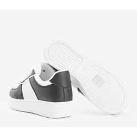 Biało czarne sneakersy Noyale białe 2