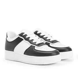 Biało czarne sneakersy Noyale białe 1