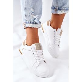 Sportowe Buty Sneakersy Na Platformie Biało-Beżowe Lola beżowy białe 1