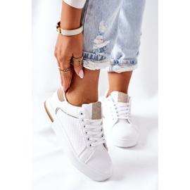 Sportowe Buty Sneakersy Na Platformie Biało-Beżowe Lola beżowy białe 2