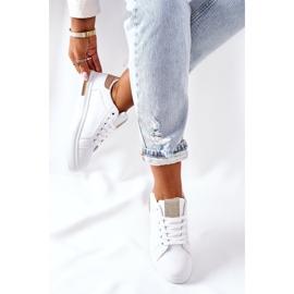 Sportowe Buty Sneakersy Na Platformie Biało-Beżowe Lola beżowy białe 4