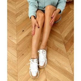 Buty sportowe wielokolorowe 5315 Khaki białe 2