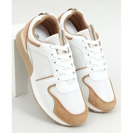Buty sportowe wielokolorowe 5315 Khaki białe 1
