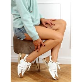 Buty sportowe wielokolorowe 5315 Khaki białe 3